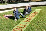 Jievariškių pamoka rudens padovanotų gėrybių parodoje